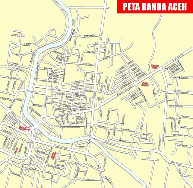 Gambar Peta Banda Aceh Lengkap
