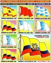 Historia Bandera Ecuador Lamina Educativa Escolar