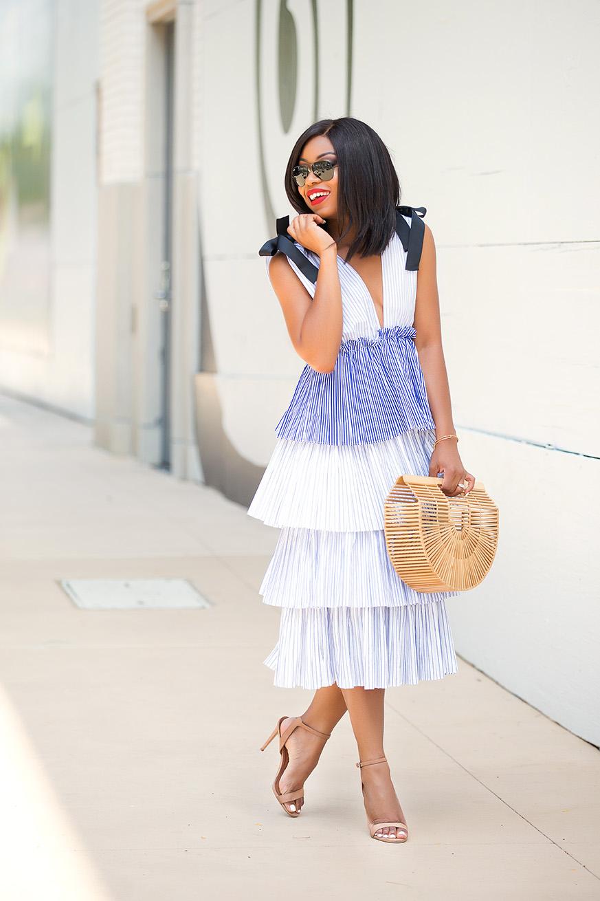 Multi tiered maxi dress, summer dress, www.jadore-fashion.com