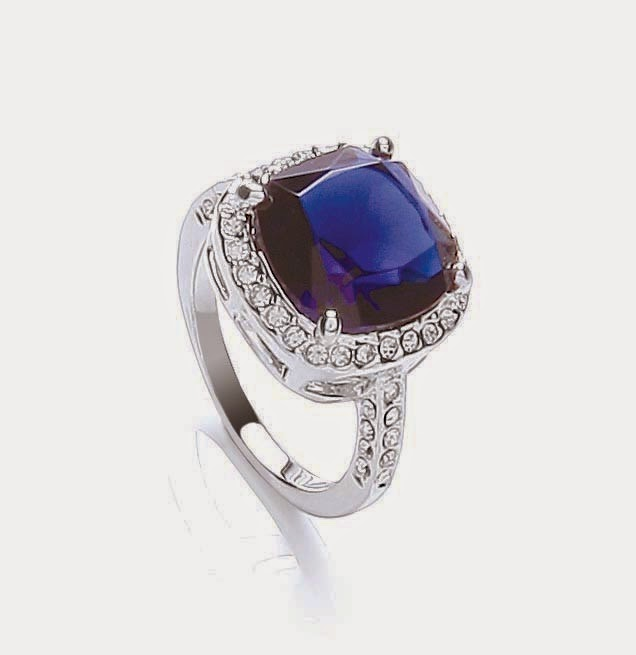 Attwood and Sawyer sapphire-style mayfair cocktail ring