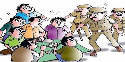 मायापुर पुलिस ने मारा जुए के फड़ पर छापा