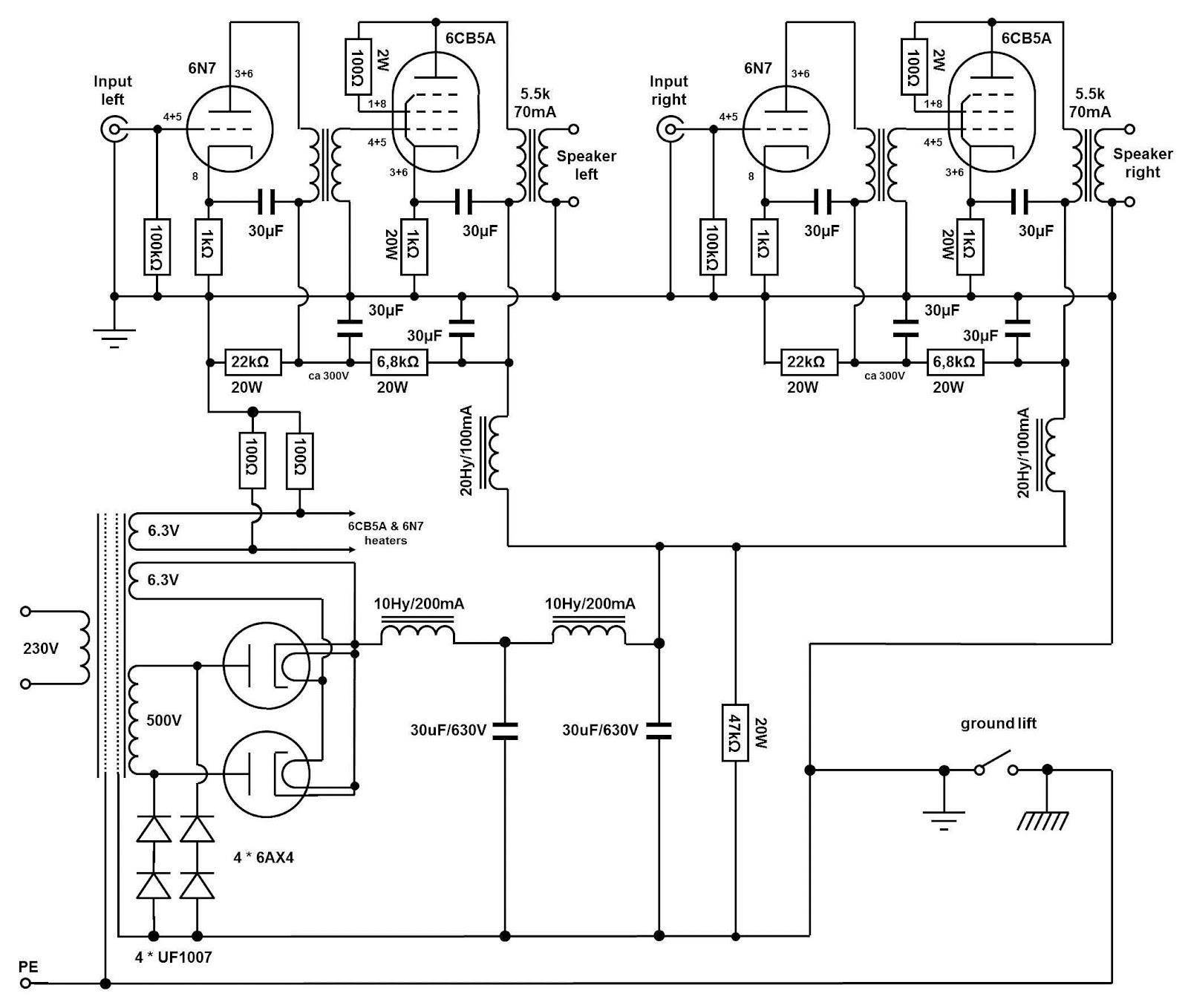 Bridge Rectifier Regulated Lab Power Supply Circuit