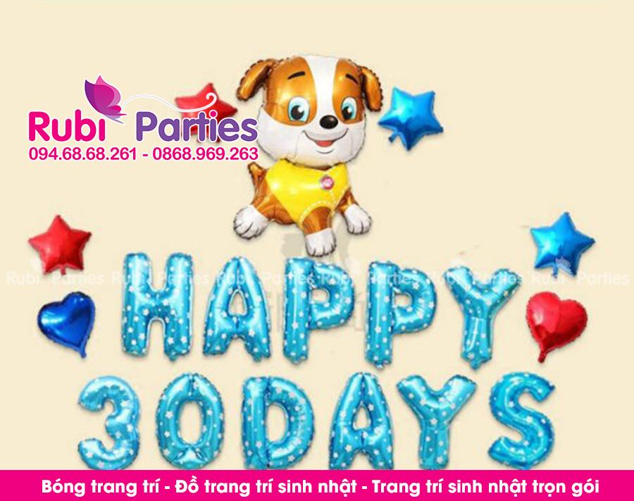 Bong trang tri day thang cho be o Phuong Mai