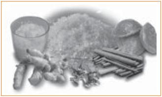 Macam-Macam Pengawet Alami yang sering digunakan adalah gula, garam, kunyit, kayu manis, dan cengkih