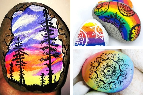 Lots of cool rock painting ideas to get you inspired
