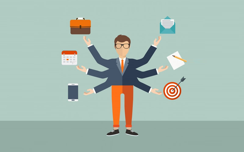 entrepreneurs multitasking