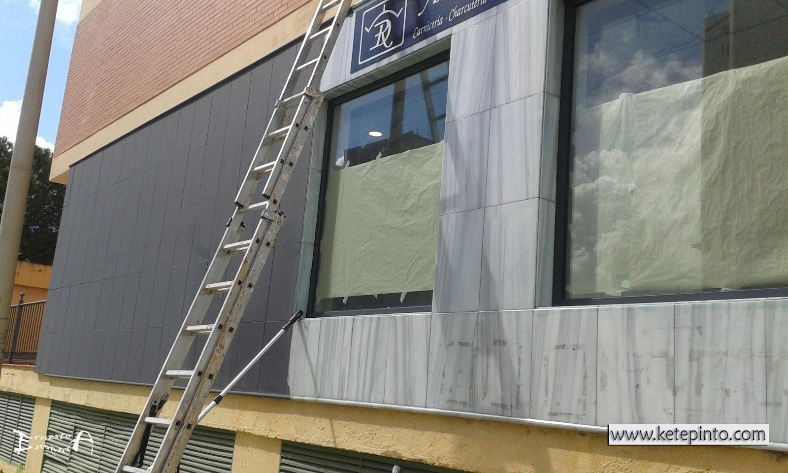 Ernesto arag n pintura para el hogar pintar una fachada for Pintura color marmol