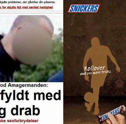 Dundertabbe av Ekstra Bladet på nätet.