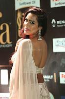 Prajna Actress in backless Cream Choli and transparent saree at IIFA Utsavam Awards 2017 0101.JPG