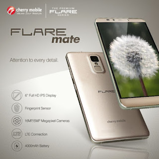Cherry Mobile Flare Mate Announced, 6-inch Octa Core 4000mAh Battery Fingerprint Sensor