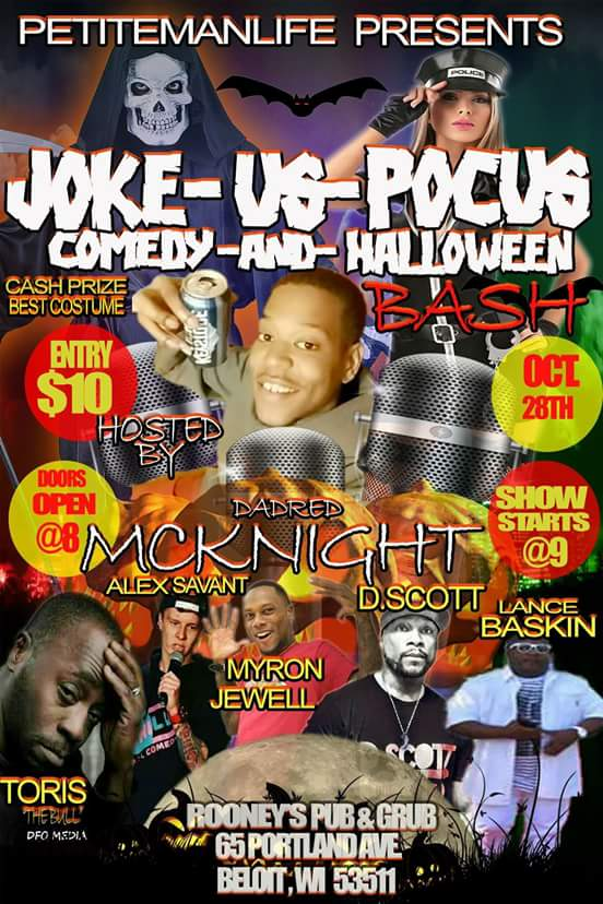 SHOW-TIME: Joke-Us-Pocus (Beloit, Wisonsin) (10/28/17)