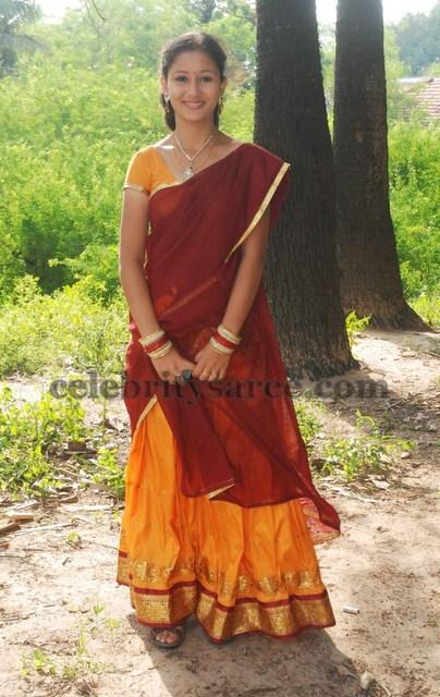 Sindhu Traditional Half Saree - Saree Blouse Patterns