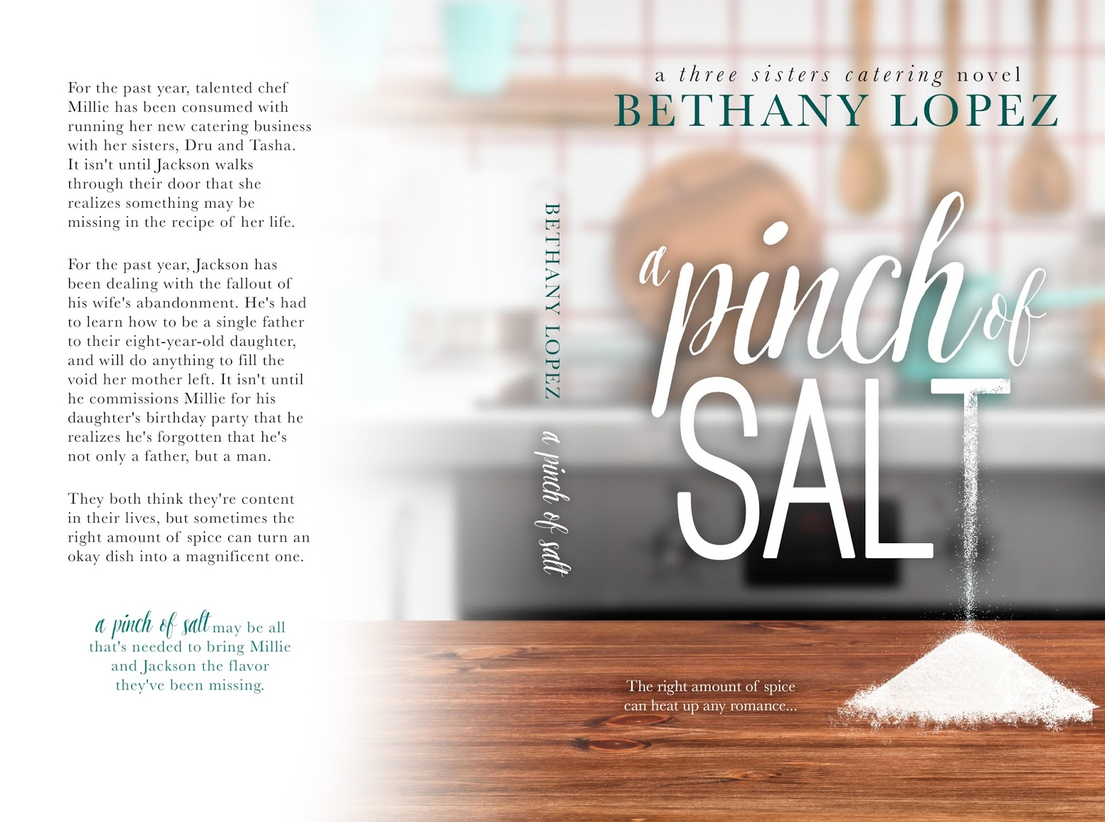 Bethany Lopez: Cover Reveal: A Pinch of Salt, Three Sisters Catering