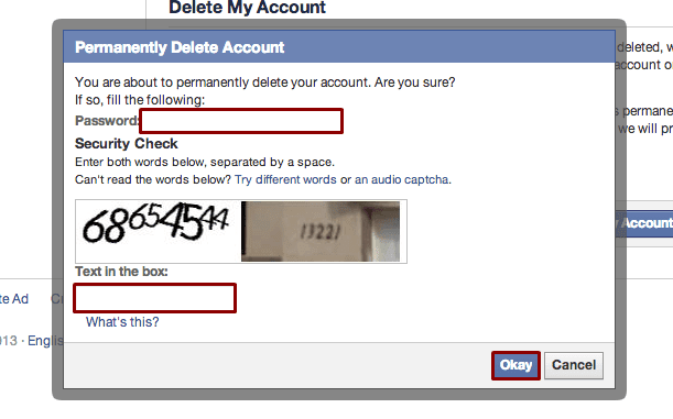 How to delete facebook account permanently without stress deactivate facebook account ccuart Gallery