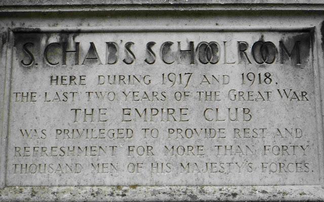 St Chad's School Room WW1 plaque