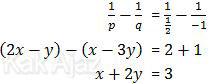 Penyelesaian akhir sistem persamaan linear SBMTPN 2017 Kode 157