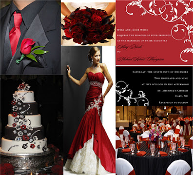 wedding ideas red and black musings of a themed wedding bridal dress 28295
