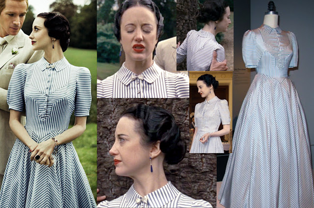Fabulous Film Fashions W.E.  - Wallis - Blue & White Pinstripe  - Arianne Phillips