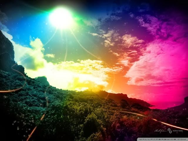 Fond ecran couleurs hd