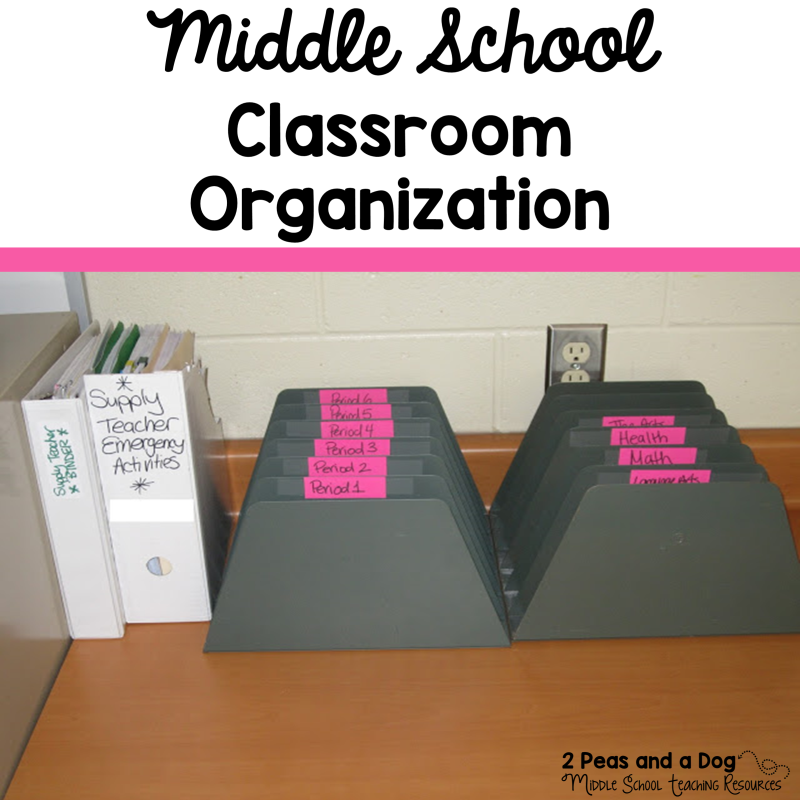 Classroom Organization Ideas Middle School : How i organize my classroom peas and a dog