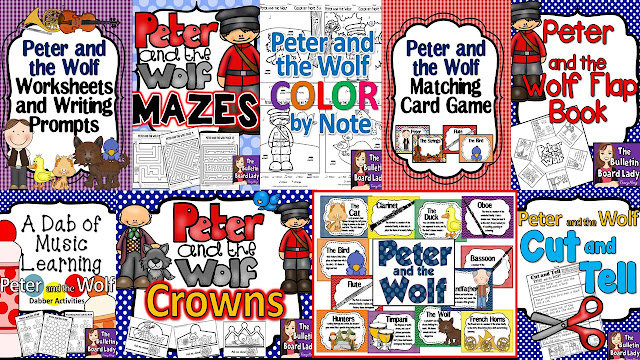 Peter and the Wolf Resources from The Bulletin Board Lady