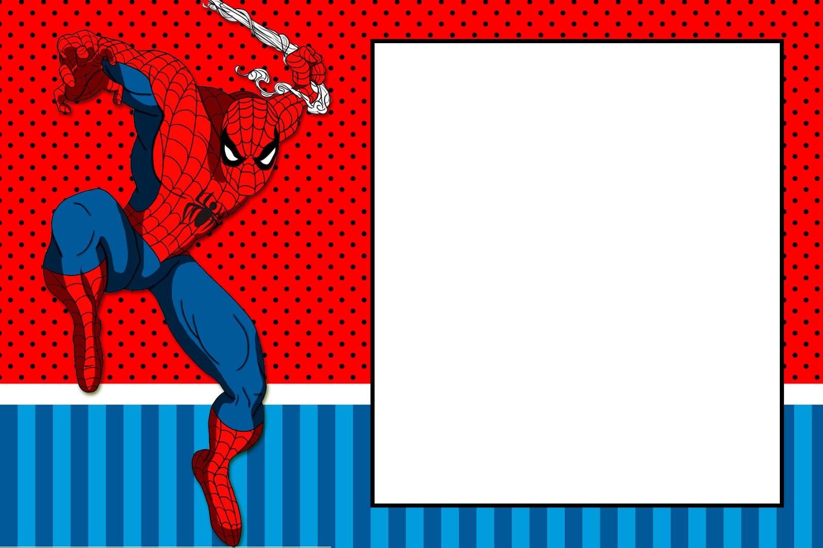 Fiesta De Spiderman Invitaciones Para Imprimir Gratis