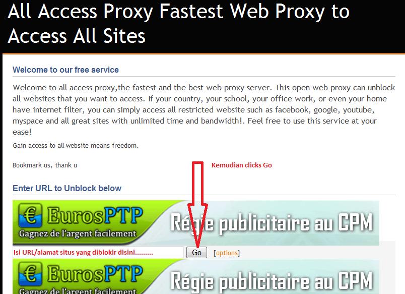 Proxy bypass internet positif