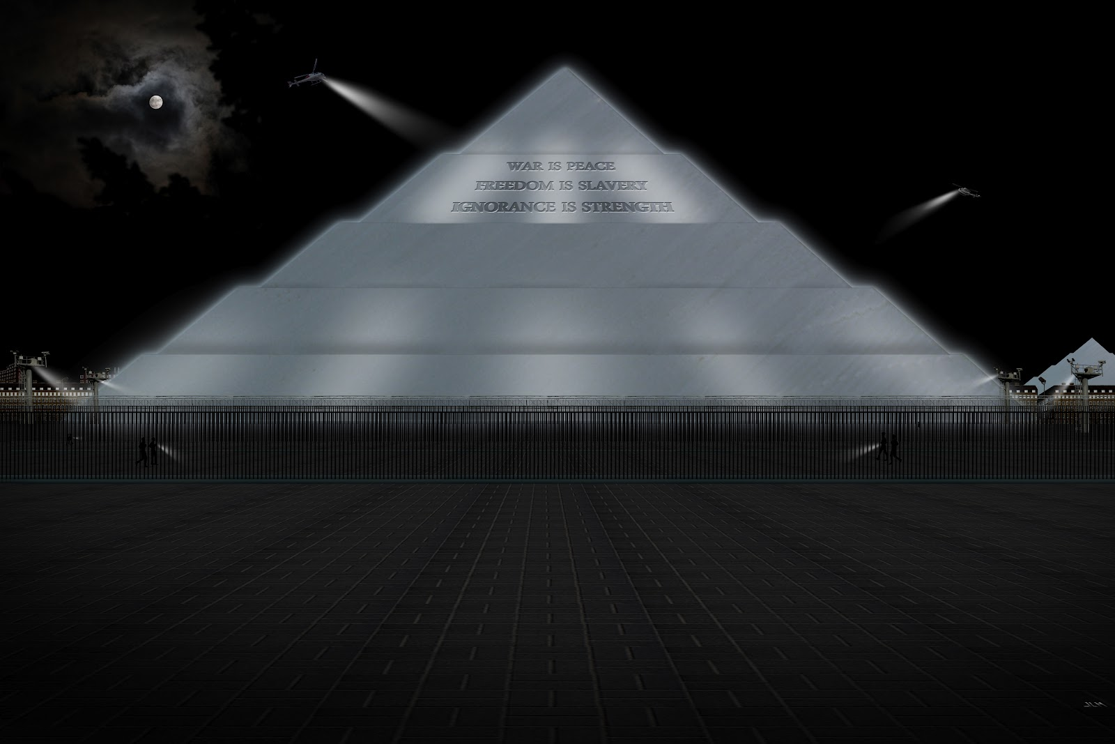 bd67b79d237 An enormous pyramidal structure of glittering white concrete rising 300  metres into the air