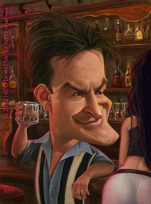"""Charlie Sheen"" por Nico Di Mattia"