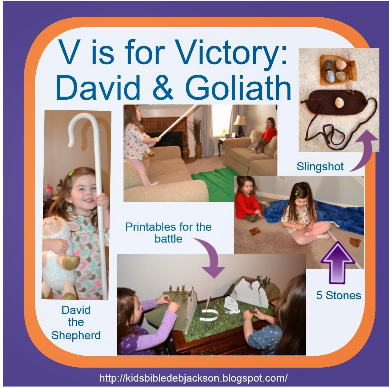 Bible Fun For Kids Preschool Alphabet V Is For Victory For David Amp Goliath