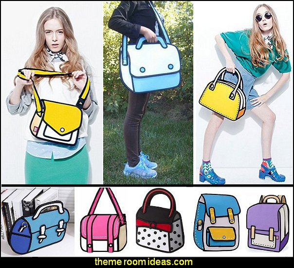 Comic cartoon 2d Canvas Bags