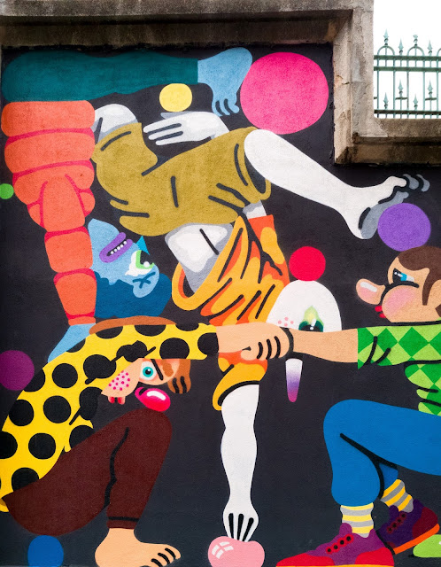 Trampantojos y murales en Madrid. Tabacalera