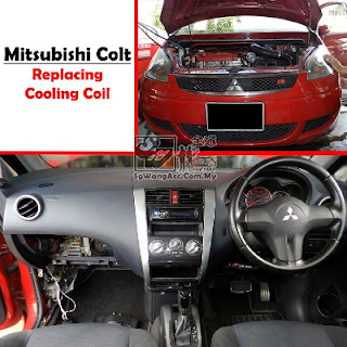 Full Air Cond Service & Replacing Cooling Coil on Mitsubishi Colt