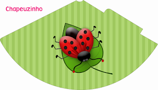 Ladybugs Free Printable Hat.