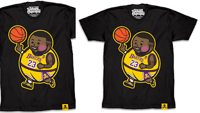 "Los Angeles Lakers ""Lejohnny Big Kid"" Lebron James T-Shirt by Johnny Cupcakes"