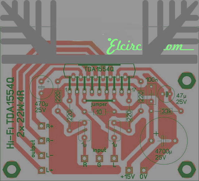 PCB Layout design TDA1554hq
