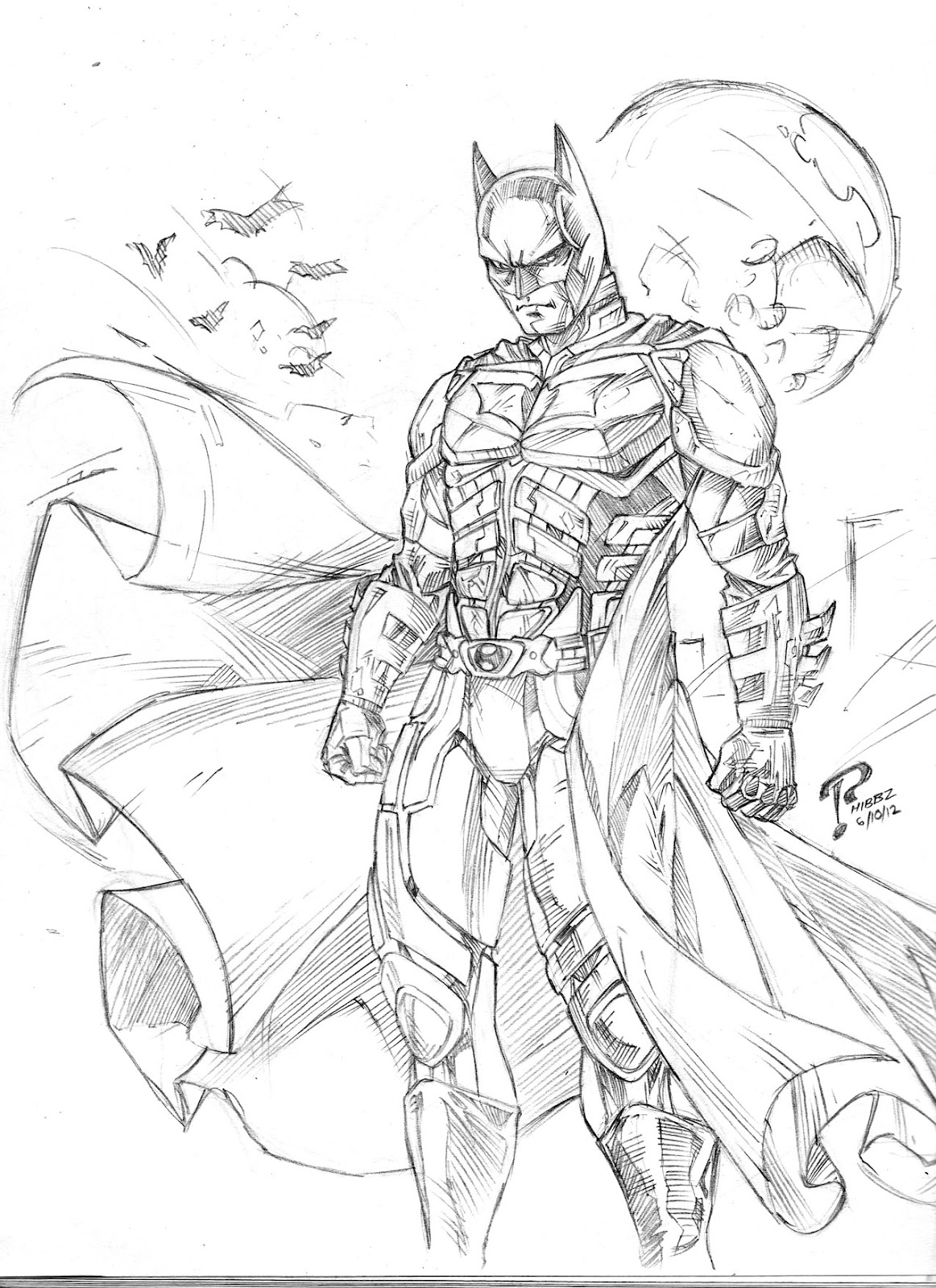 the dark night coloring pages - photo#1
