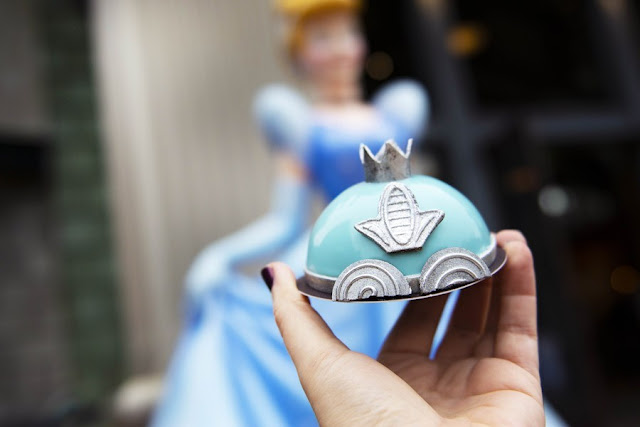 "So This Is Love: A ""Cinderella"" Anniversary Tea Party, Cinderella's Carriage Mini Dome Cake"