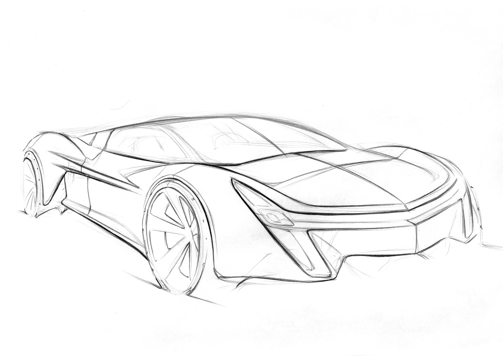 Paul Mutter Design Corvette Line Drawings