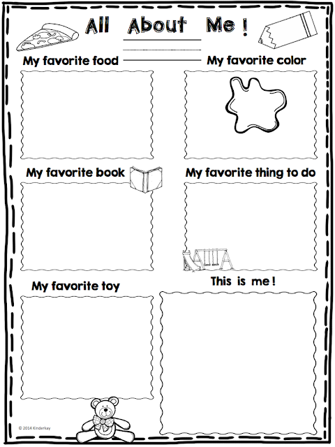 All About Me Mini Poster Freebie Love Those Kinders