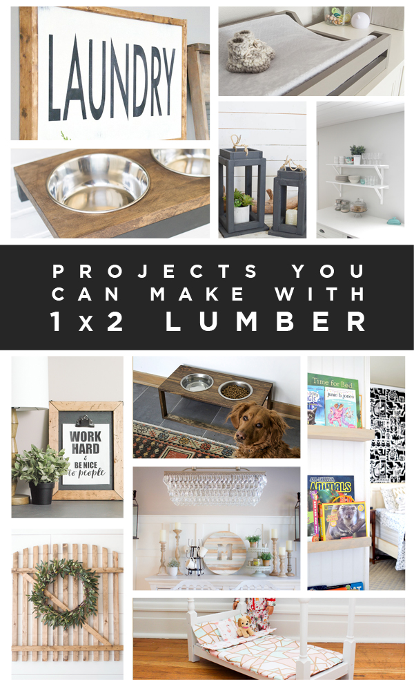11 DIY project ideas for 1x2 lumber boards
