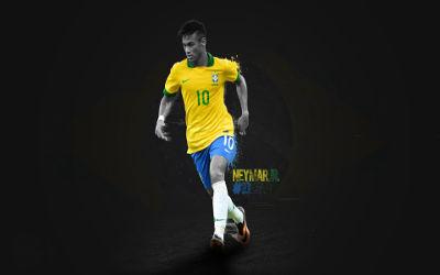 Neymar Numéro 10 Brésil - Fond d'écran en Ultra HD 4K 2160p