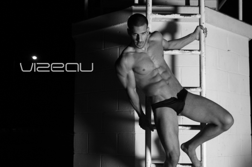 Vizeau Les Sauvages fashion men's swimwear campaign