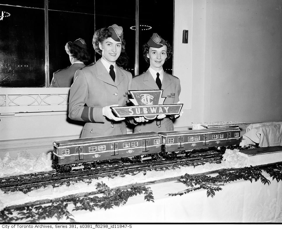 TTC train cake at the Royal York