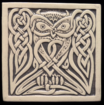 Decorative Handmade Ceramic Tile Handmade Relief Carved