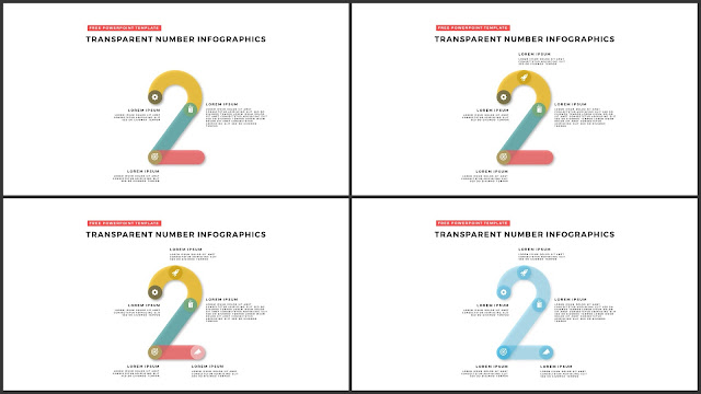Infographic Transparent Design Elements for PowerPoint Templates in white background using Number 2