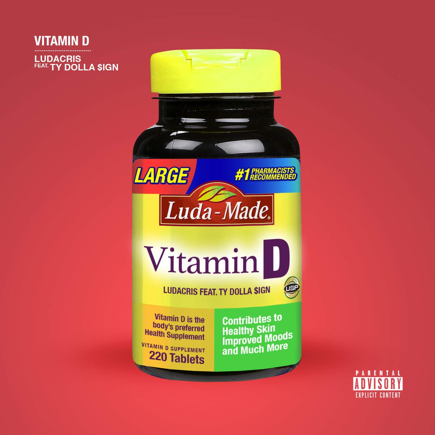 Ludacris - Vitamin D (feat. Ty Dolla $ign) - Single Cover