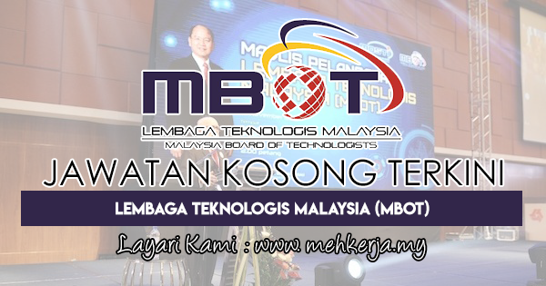 Jawatan Kosong Terkini di Lembaga Teknologis Malaysia (MBOT)