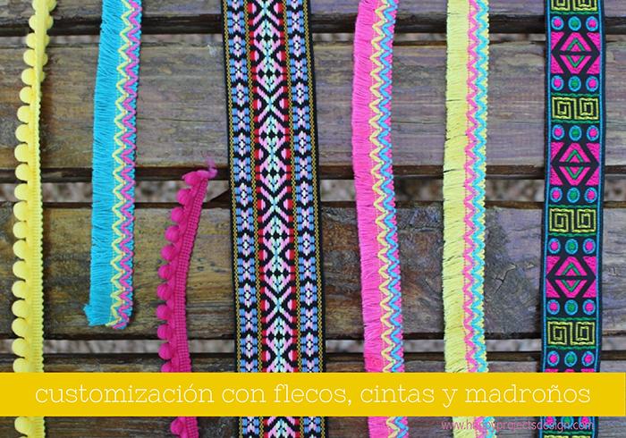 customización de ropa: flecos y madroños