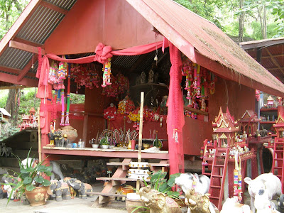 A spirit house along route 12 at Nam Nao - Thailand